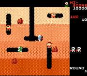 Play Famicom Mini 16 – Dig Dug Online